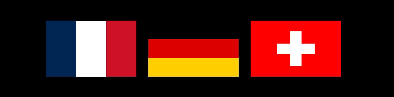 Flags france germany switzerland