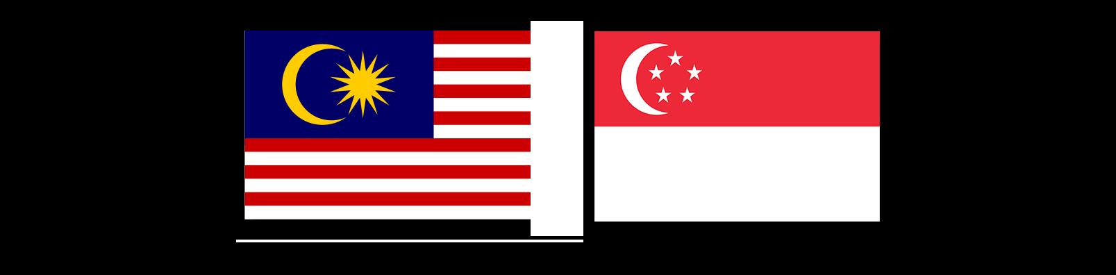 Flags malaysia Singapore