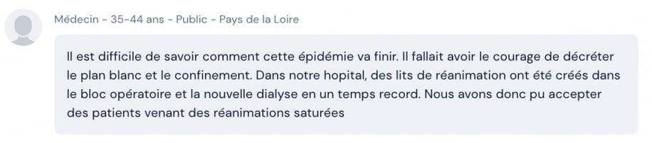 professionnels de santé français : témoignages covid19